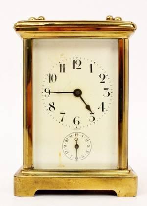 Small French Brass Carriage Clock Wanamaker