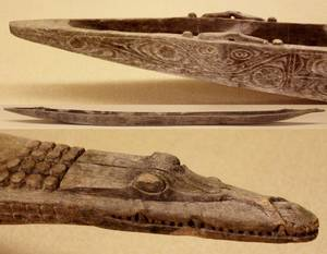 Large and Impressive Papua New Guinea Dugout Canoe