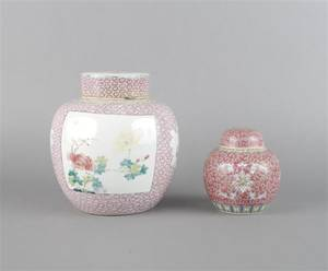 A Group of Two Chinese Ginger Jars
