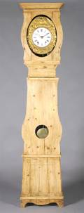 A French Provincial Pine Tall Case Clock