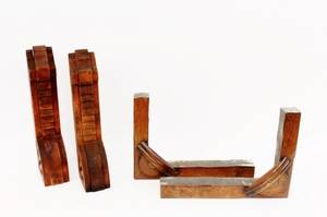 Two Sets of Wood Architectural Supports