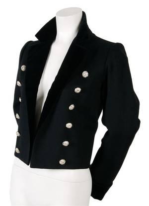 An Yves Saint Laurent Black Wool Melton Jacket