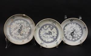 Group of Three Chinese Kangxi Porcelain Plates
