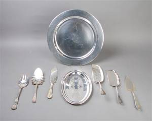 A Group of Silverplate Serving Articles