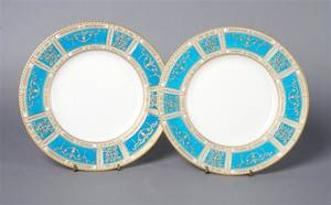 A Group of Mintons Porcelain Plates