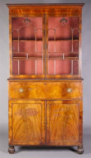 An American Mahogany Secretary Bookcase