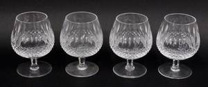Set of Four Waterford Crystal Brandy Glasses