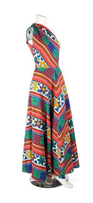 A Lanvin Floral Print Cotton Maxi Dress