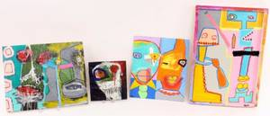 Four Hoke Roberts Outsider Artworks