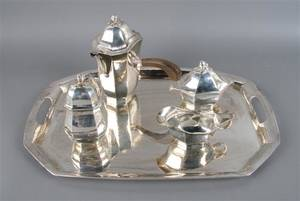 A Swedish Silver Tea Service Jacob Angman