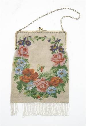 An Art Deco Style Beaded Handbag