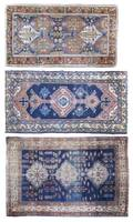 A Group of Three Persian Wool Rugs