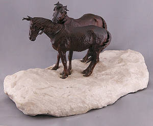 182 R Winder Euro Bronze Figural Sculpture of Horse