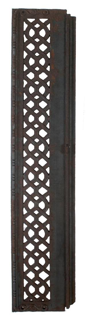 A Group of Two Cast Iron and Copper Plated Risers from Chicagos Rookery Building Burnham and Root