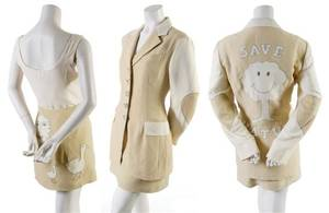A Moschino Cheap and Chic Tan Save Nature Ensemble