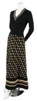 A Krizia Black Knit and Lurex Dress
