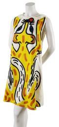 A JeanCharles de Castelbajac Painted Linen Fox Dress