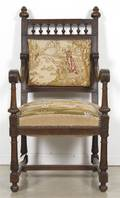 A French Needlepoint Upholstered Armchair