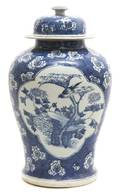 A Chinese Porcelain Temple Jar and Cover