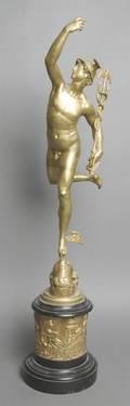 A Gilt Bronze Figure after Claude Michel Clodion