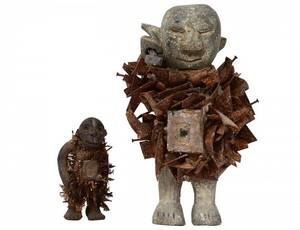 TWO WEST AFRICAN TRIBAL FETISH FIGURES