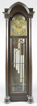 An American Gothic Revival Tall Case Clock