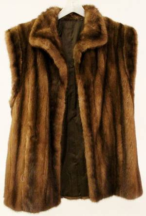 Brown Mink Fur Vest or Stole