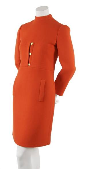 A Geoffrey Beene Orange Wool Day Dress