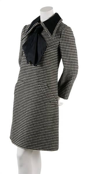 A Geoffrey Beene Wool Houndstooth Day Dress
