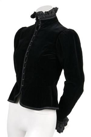 An Yves Saint Laurent Black Velvet Jacket