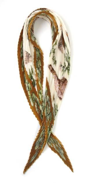 An Hermes Pleated Silk Scarf