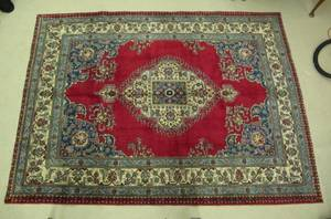Hand Woven Semi Antique Persian Tabriz Rug