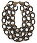 A Stephen Dweck Black and Copper Chain Link Necklace