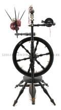 A German Ebonized Oak Spinning Wheel