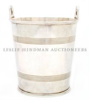 An English Silverplate Champagne Bucket retailed by Shrubsole