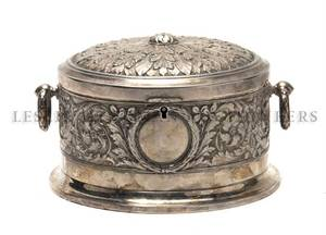 A Continental Neoclassical Style Silverplate Jewelry Casket