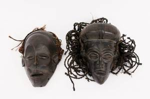 Two Chokwe African Masks