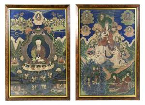 A Pair of Tibetan Thangkas