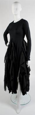 A Joan Vass Black Tiered Dress