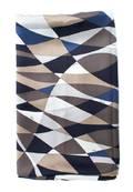 An Emilio Pucci Blue Geometric Print Scarf