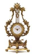 A Louis XV Style Gilt Bronze Clock Dreyfous