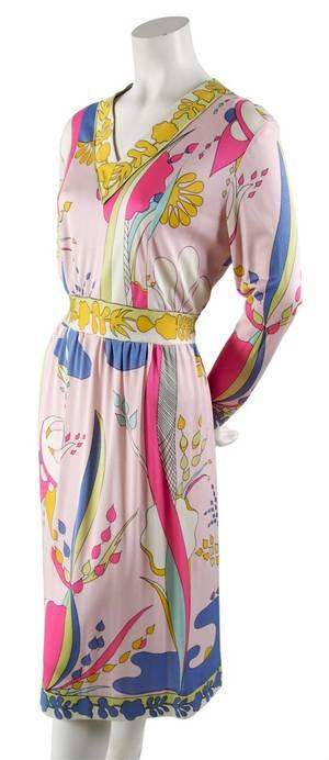 A Bessi Geometric Print Dress