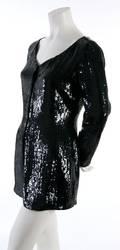 A Donna Karan Black Sequined Tunic