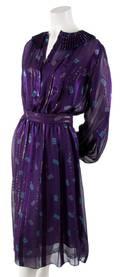 A Zandra Rhodes Purple Silk Dress