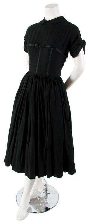 A Black Wool Cocktail Dress