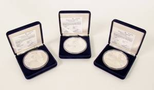 Three 1987 Americas Cup Commemorative Coins