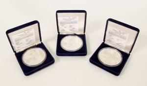 Three 1987 Americas Cup Commemorative Coins