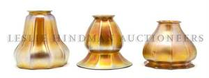 A Collection of Three American Glass Shades