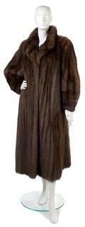 A Brown Sable Fur Coat