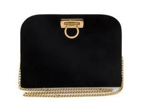 A Salvatore Ferragamo Black Velvet Bag